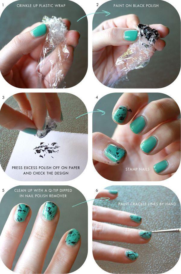 Как сделать на ногтях мрамор