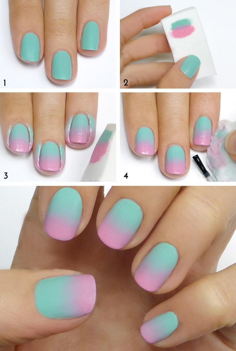 Как сделать омбре на ногтях фото пошагово фото 497