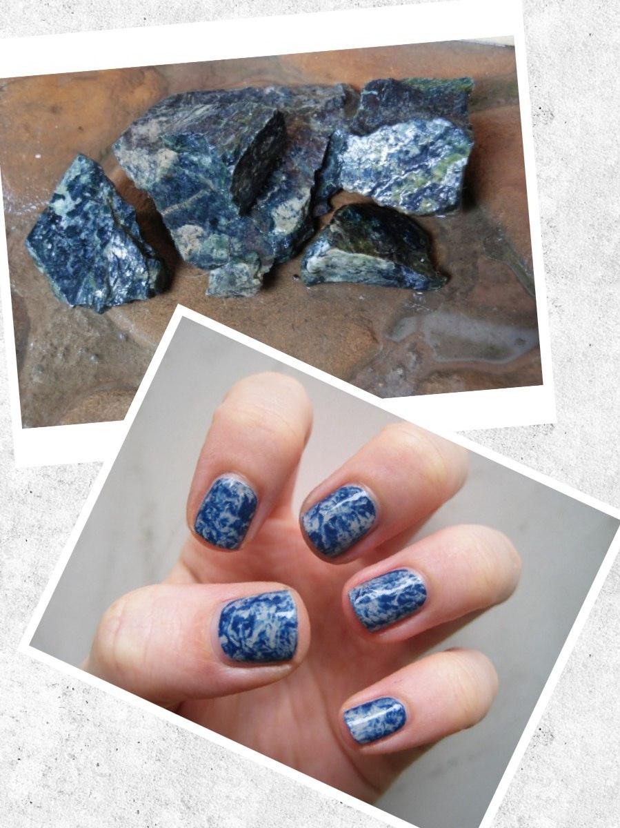 как сделать мраморные ногти