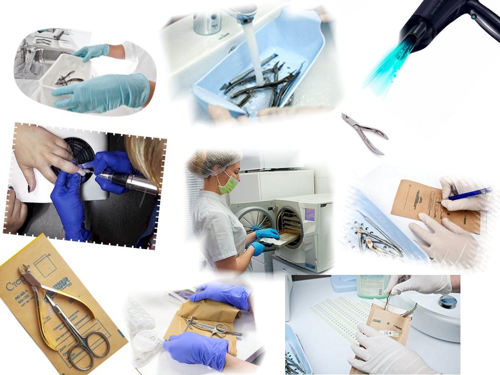Очистка и дезинфекция маникюрных инструментов в ультразвуковой ванне